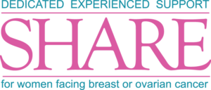 SHARE cancer support logo pink and teal