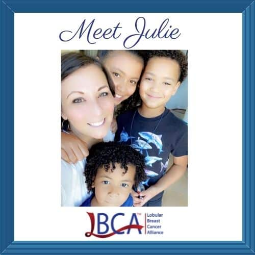 Woman with metastatic ILC and her children